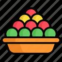 ladoo dish, ladoo, diwali, laddu, sweet, delicious, tasty
