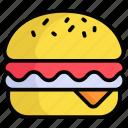 food, hamburger, cheeseburger, fast-food, junk-food, fast, tasty