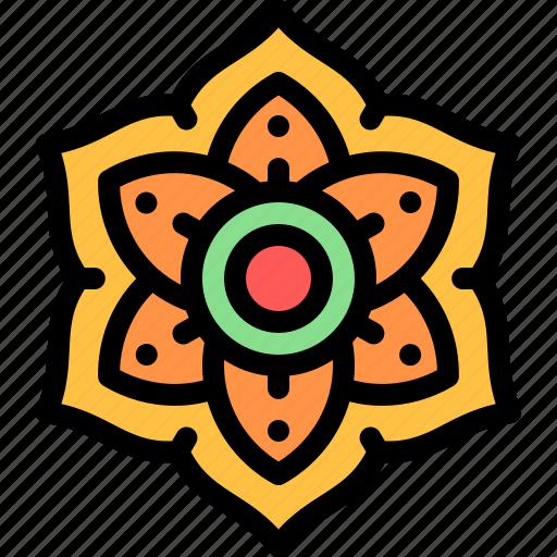 diwali, faith, flower, hindu, india icon