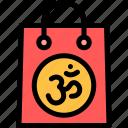 bag, diwali, faith, hindu, india, shopping icon