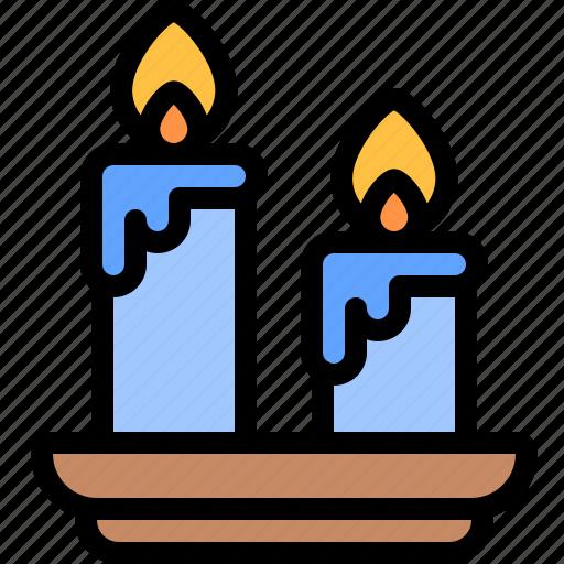 candles, diwali, faith, hindu, india icon