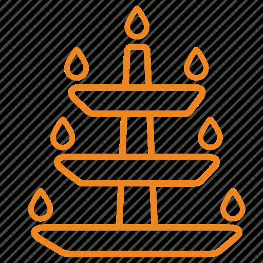 deeya, diwali, festive, lamp, light icon