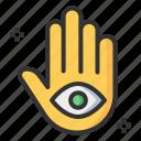eye, hamsa, hand, hindu icon