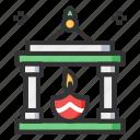 candle, celebration, decoration, diwali, lamp icon