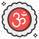 diwali, hinduism, om, religion icon