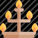 candelabra, diwali, faith, hindu, india icon