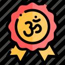 badge, diwali, faith, hindu, india icon