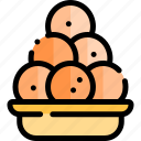 diwali, faith, hindu, india, laddu icon