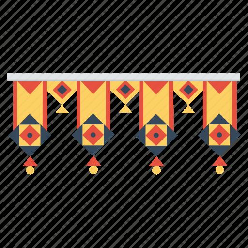 arch, diwali, entrance, festival, hindu, indian, lights icon