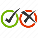 approved, check, denied, do, don't, reject icon