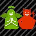 angle, bad, devil, do, don't, good icon