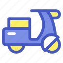 holiday, motorcycle, transportation, travel, vacation, vehicle, vespa icon