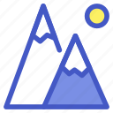 adventure, holiday, mountain, travel, vacation icon