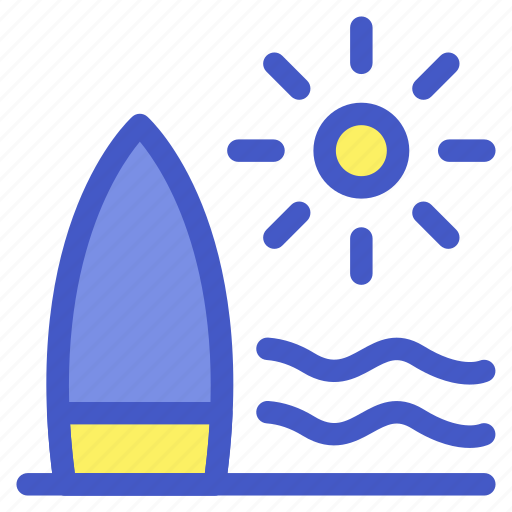 beach, holiday, sea, surfing, travel, vacation icon