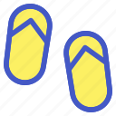 beach, casual, holiday, sandal, travel, vacation icon