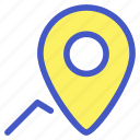 holiday, location, map, route, travel, vacation icon