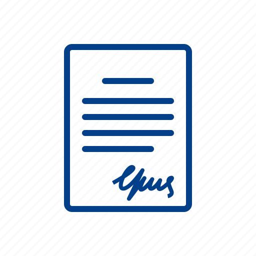 contract, document, file, page, paper, signature icon