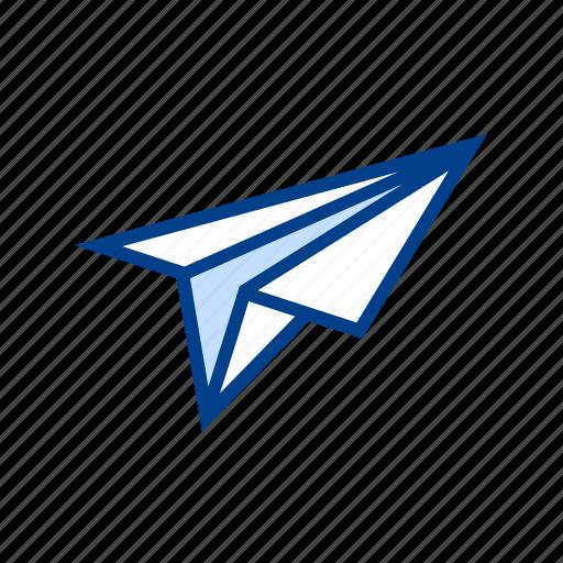 file, letter, mail, paper, plane, send icon