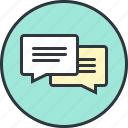 bubble, bubbles, chat, comments, communications, message, talk icon