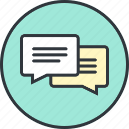 bubble, bubbles, chat, comments, communications, message, talk icon