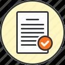 accept, approve, check, success icon