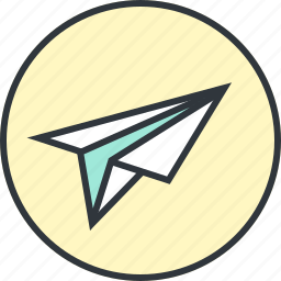 airplane, email, flight, mail, paper, plane, send icon