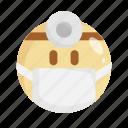 doctor, emoji, emoticon, face mask, mask, medical mask, virus icon