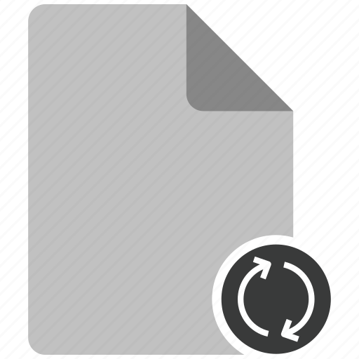 archive, document, file, note, refresh icon