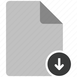 archive, document, download, file, note icon