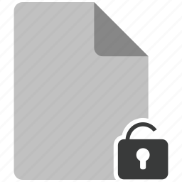archive, document, file, note, unlock icon