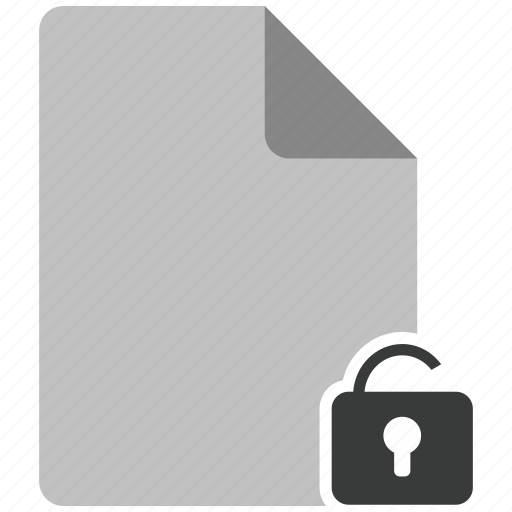 archive, document, file, note, unlock icon