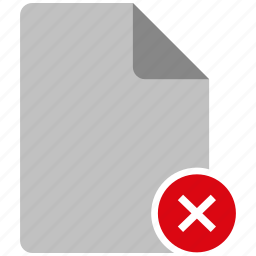 archive, broken, document, fail, failed, file, note icon