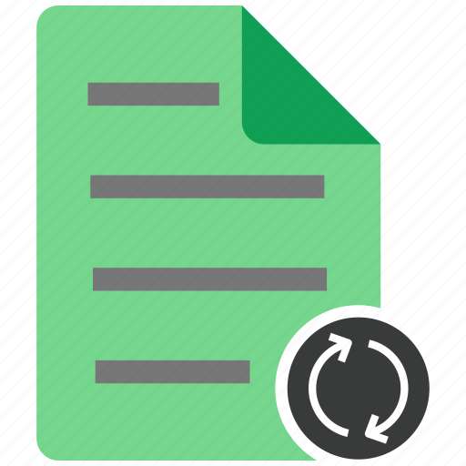 archive, document, file, files, note, refresh icon