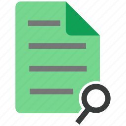 document, file, note, search icon