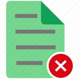 broken, document, fail, file, note icon