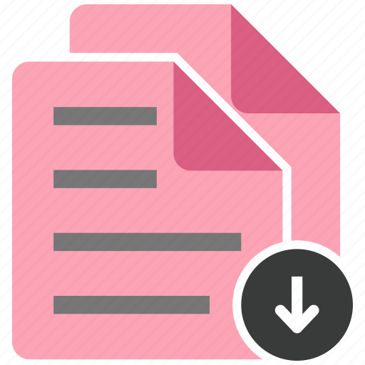 document, download, file, note icon