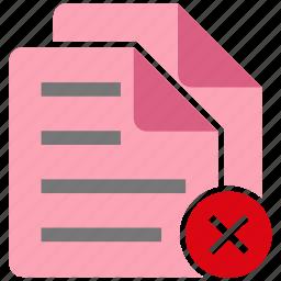 broken, document, failed, file, note icon