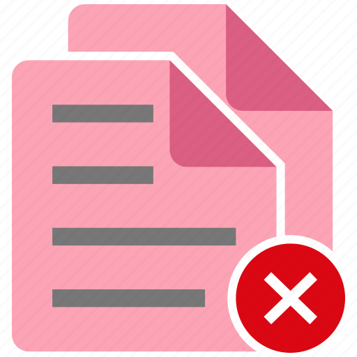 broken, document, failed, file, note icon