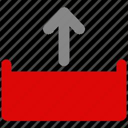 document, file, note, uploading icon