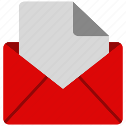 document, file, letter, message, note, open icon