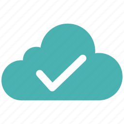 cloud, document, download, file, note, success icon