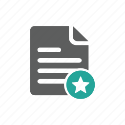 document, favorite, file, important, star, tag icon