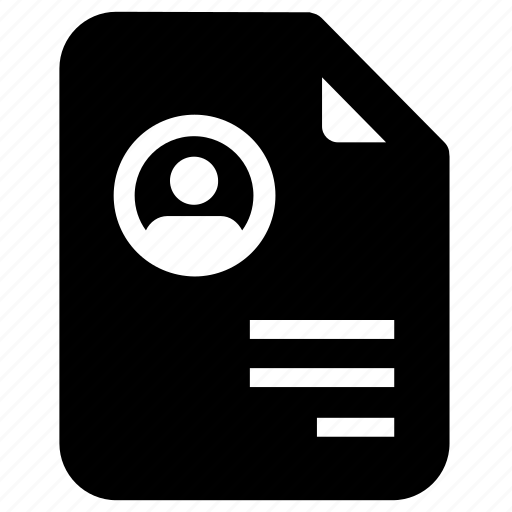 cv, document, file, personal information, picture, profile icon