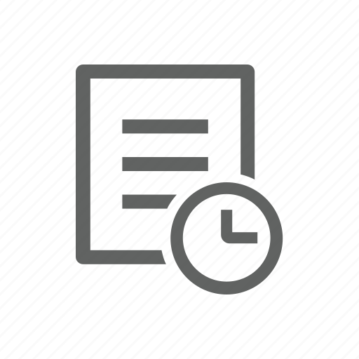 clock, delay, document, file, later, letter, paper icon