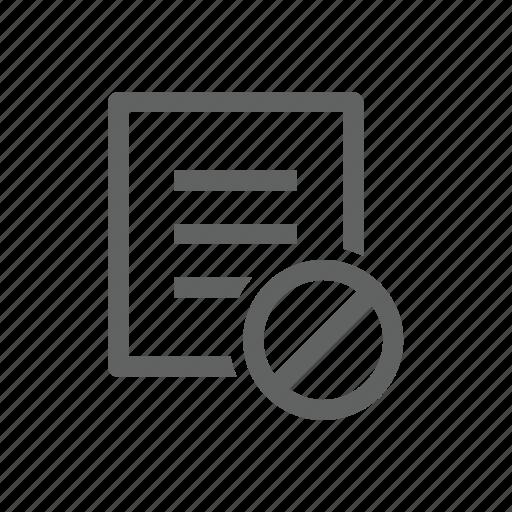 block, document, error, file, letter, paper, warning icon