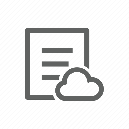 cloud, document, file, paper, report icon