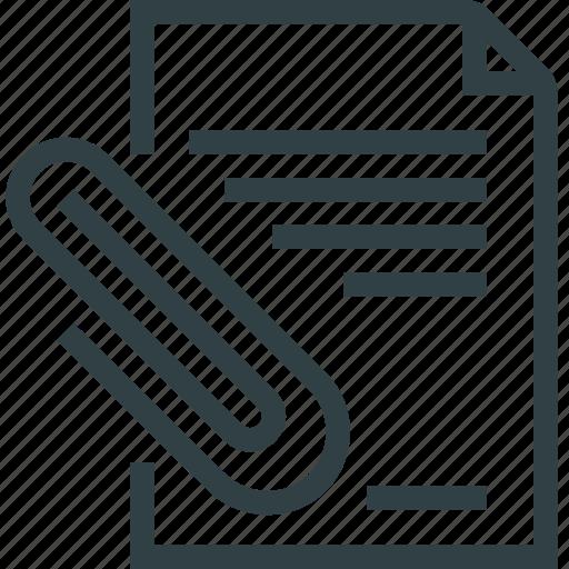 clip, doc, document, paper icon