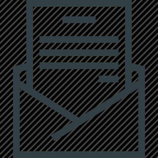 doc, document, letter, paper icon