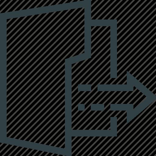 arrow, document, download, folder, storage icon