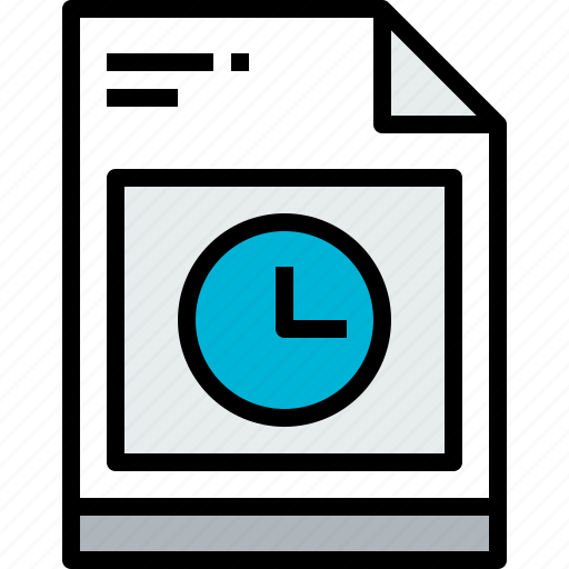 business, file, page, paper, report, time icon